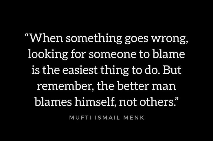 Blame oneself