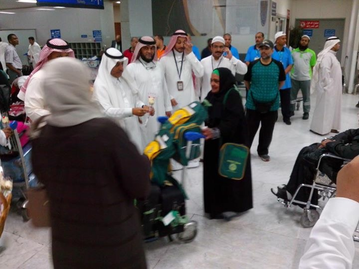 Hujjaj from South Afirca being welcomed in Makkah